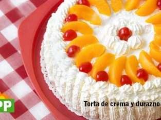 TORTAS CREMA Y DURAZNOS
