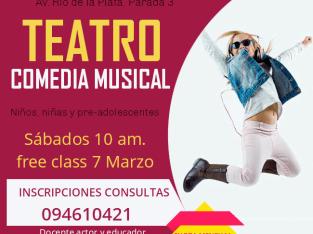 CLASES DE TEATRO Y COMEDIA MUSICAL